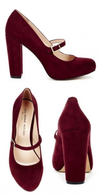 Burgundy Mary Janes <3 Such a Classic & Timeless Look .. Love! by FederikaRusso.kalinka