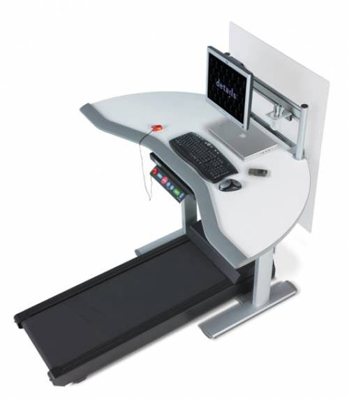 Treadmill Desk: Have you noticed that you're getting what appears to be a beer gut and you're not even drinking a lot of beer? It's probably because you just sit at your computer all day long. Hop on a treadmill and get work done at the same time from the comfort of your home office by adding a treadmill desk to the home's decor.