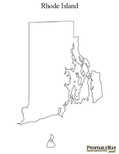 Blank Map Of Rhode Island Printable Map of Rhode Island | Cool Stuff | State tattoos, Island