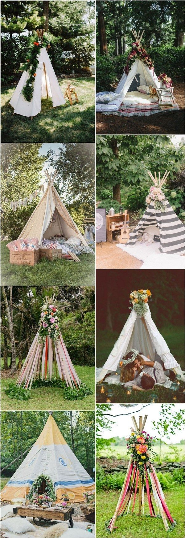Boho Tipi Wedding Barckdrops & Arches / http://www.deerpearlflowers.com/bohemian-teepee-wedding-ideas/