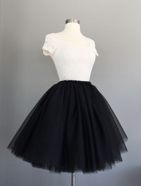 Tulle skirt Adult Bachelorette Tutu black by Morningstardesignsmi