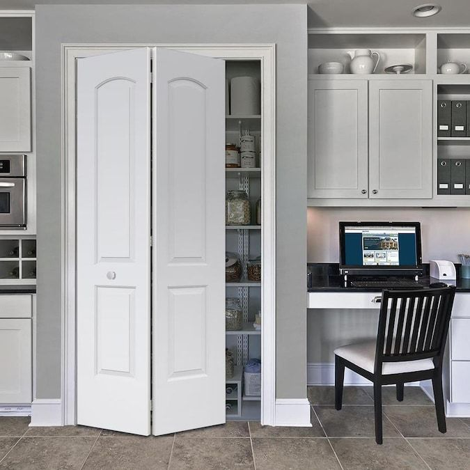 Reliabilt Continental Primed 2 Panel Round Top Molded Composite Bifold Door Hardware Included Common 36 In X 80 In Actual 36 In X 79 In Lowes Com In 2020 Bifold Doors Bifold Door Hardware Primed Doors