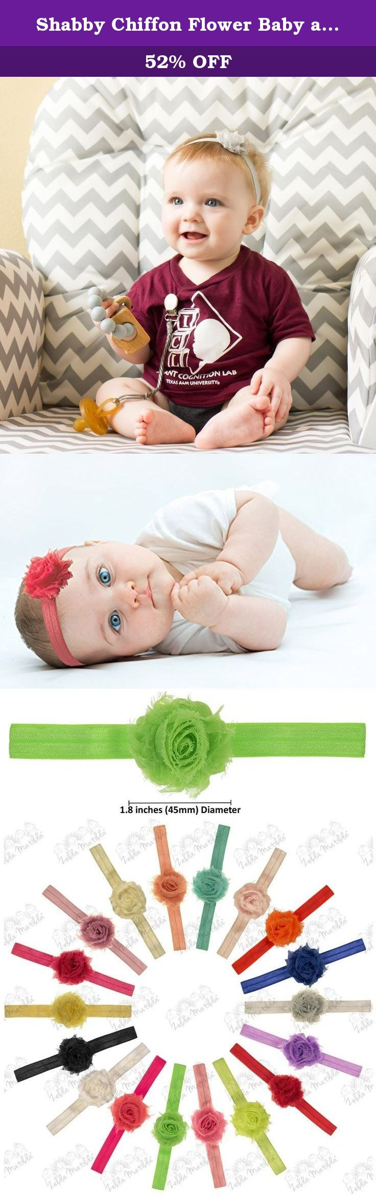 Shabby Chiffon Flower Baby and Newborn Girls Headband Set - 18 Pack - by ZELDA MATILDA - Gorgeous Rosettes on Super Soft and Stretchy Headbands for Newborn and Baby Girls - Boutique quality!. 18 Piece Shabby Chiffon Flower Newborn and Baby Headband Set by ZELDA MATILDA. Gorgeous Soft Flowers On Stretchy Headbands for Newborn and Baby Girls. Are you sick of wasting money on low quality accessories that fall apart or are not well made? Don't you wish there was a way to buy boutique high...