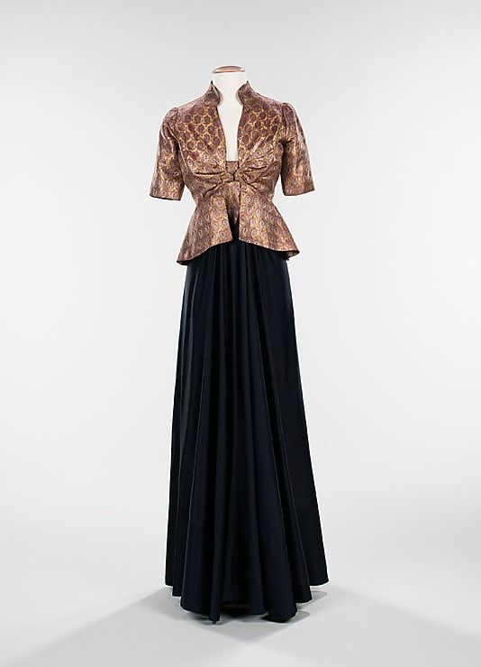 """From the Arabic"", dress and jacket,  Elizabeth Hawes, Fall/Winter 1939."