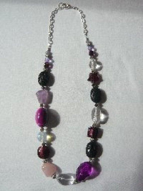 'Purple Mist' Semi-Precious Stone Necklace.