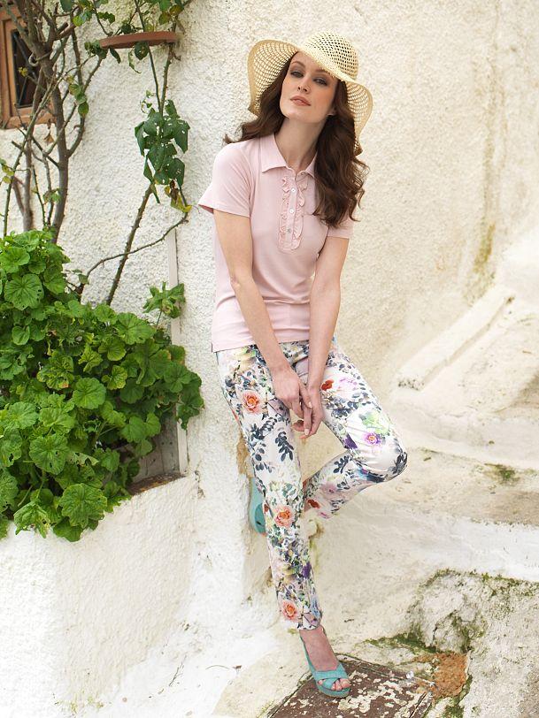 floral pants in pink mood