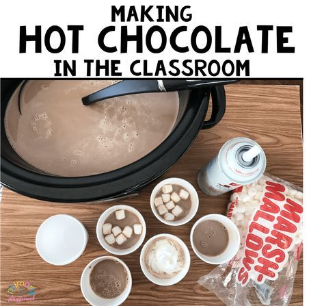 I love making hot chocolate in the classroom! I've been making it this way for years now and I promise it is super simple. No more hot water, opening packets, mixing etc, and tastes sooo much…