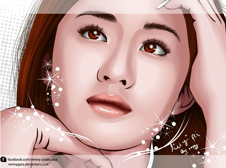 Liu Yi Fei made in illustrator #beautiful #beauty #pretty #asian #asia #smile #art #artwork #fanart #design #illustration #vector #vectorart #liuyifei #celebrity