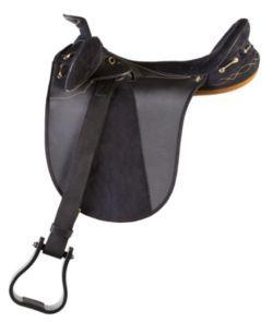 Kimberley Synthetic Australian Saddle w/Horn Black