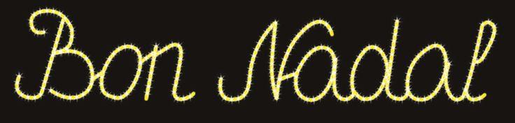 """""""Bon Nadal"""" con letra seguida de color amarillo #navidad #lucesdenavidad #iluminacionnavidad #iluminacion navideña http://viada.net/lucesdenavidad/"""