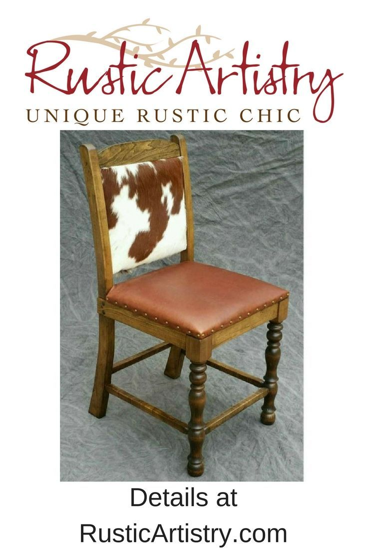 Cowhide Counter Stool