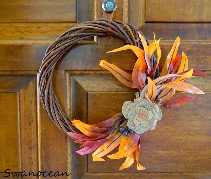 My new fall wreath-Το νέο μου φθινοπωρινό στεφάνι