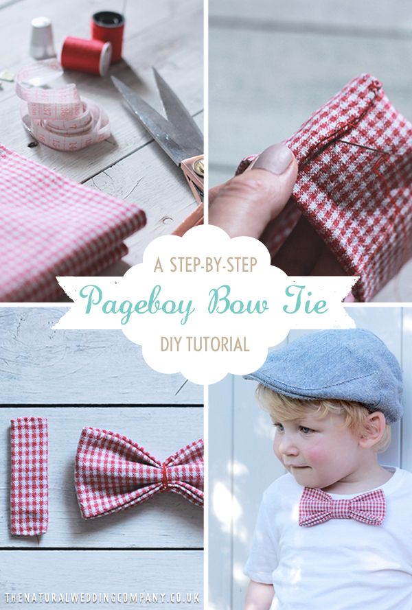 How to make a red gingham pageboy bow tie for your rustic country wedding
