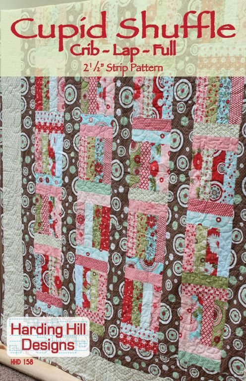 Cupid Shuffle 21/2 Strip Pattern Multiple by HardingHillDesigns, $9.00