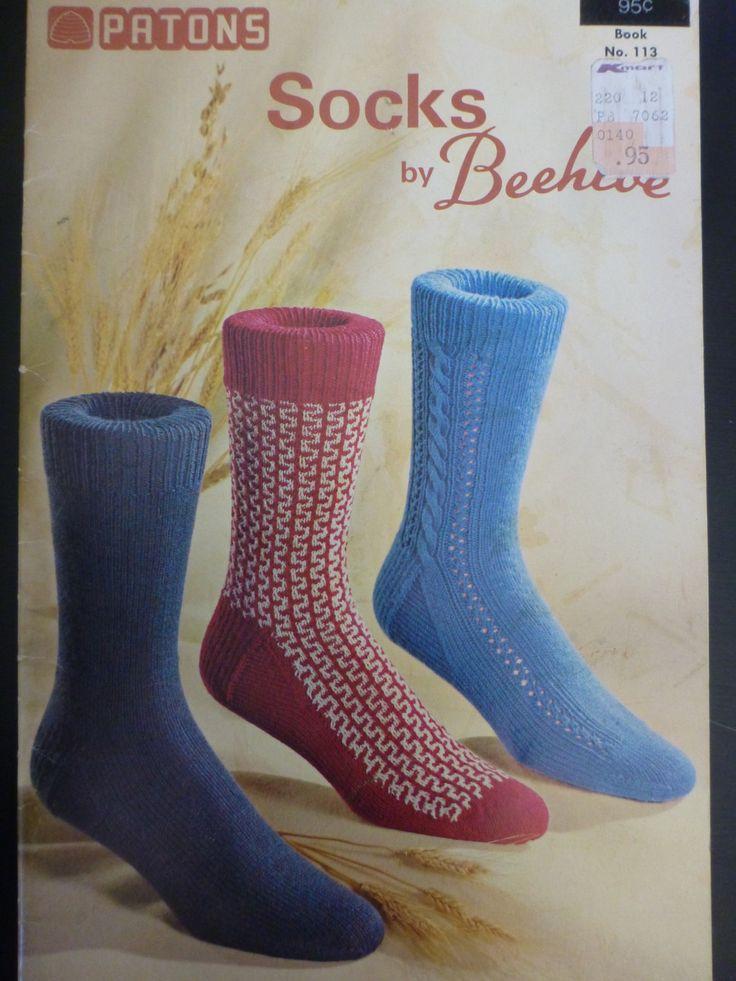 Patons Socks by Beehive to knit - No.113 - houndstooth, cable, kaleidoscope, diamonds, sport socks, arrowhead, plain, rib - 941 by CarolsCreations77 on Etsy