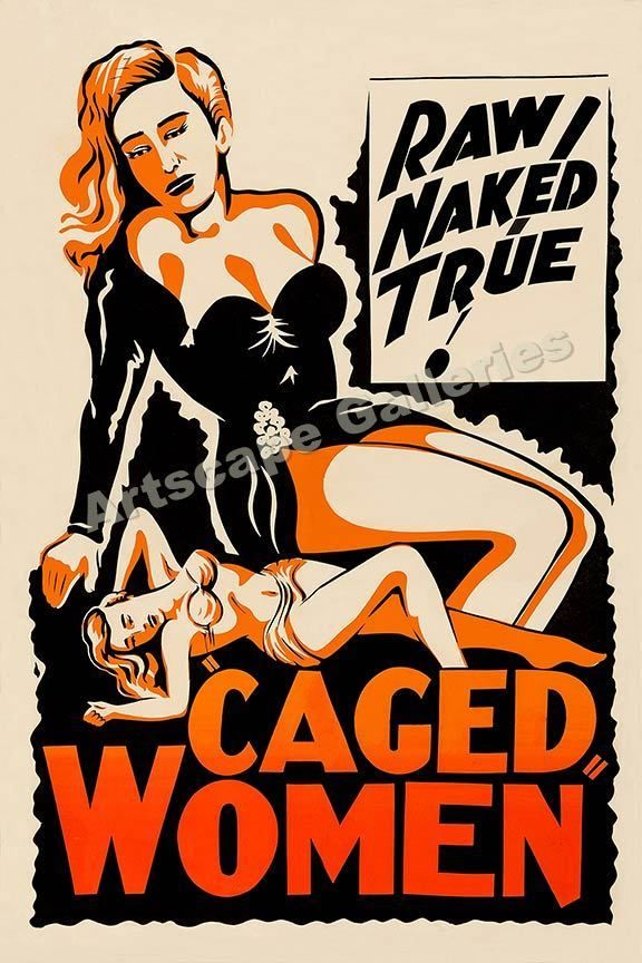 """""""Caged Women"""" Classic 1940s Movie Poster - 16x24  