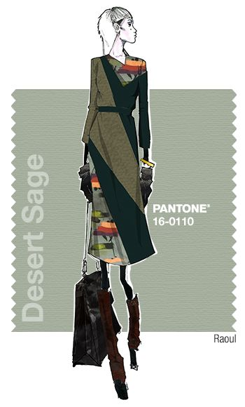 Raoul in Pantone Desert Sage - FALL 2015 PANTONE's FashionColorReport