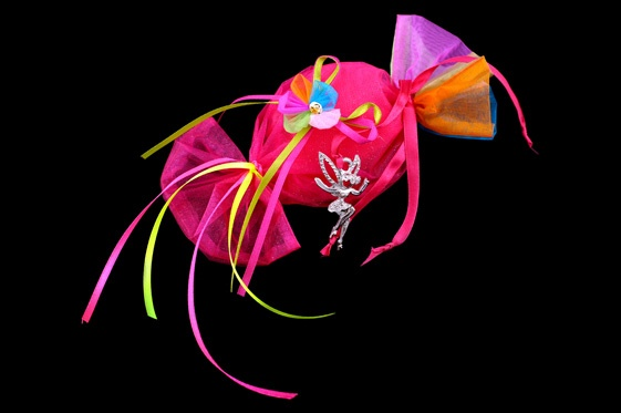 Multicoloured organza candy favour! £2.30