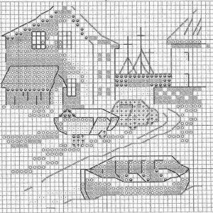 Схема вышивки История красной машинки 4 из 6