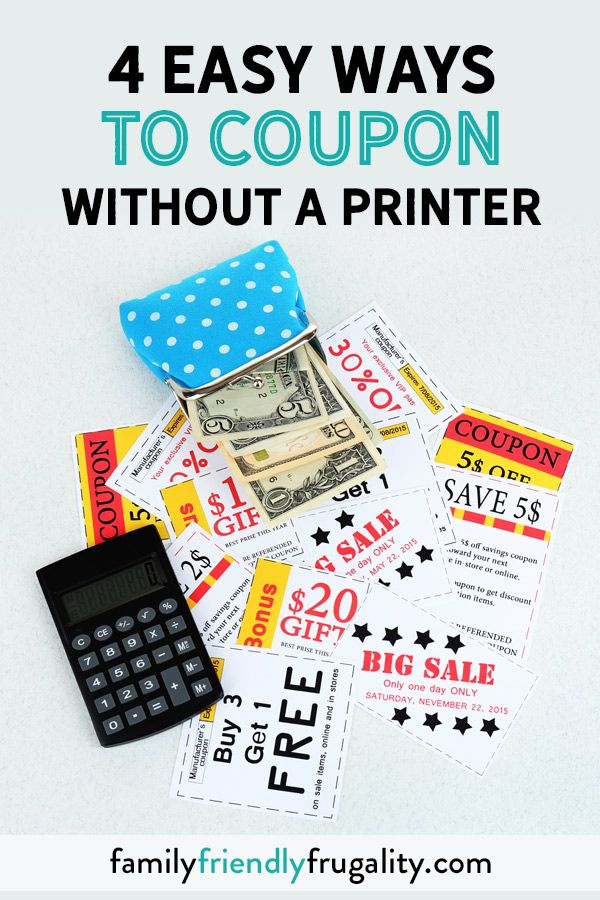 Can You Coupon Without A Printer The Answer Yes You Can Definitely Learn To Use Coupons Without Best Money Saving Tips Budgeting Money Spending Money Wisely