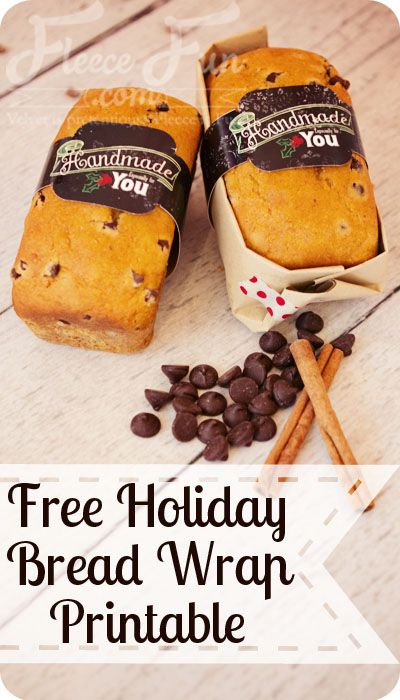 Perfect for wrapping mini loaves in!  Free Printable