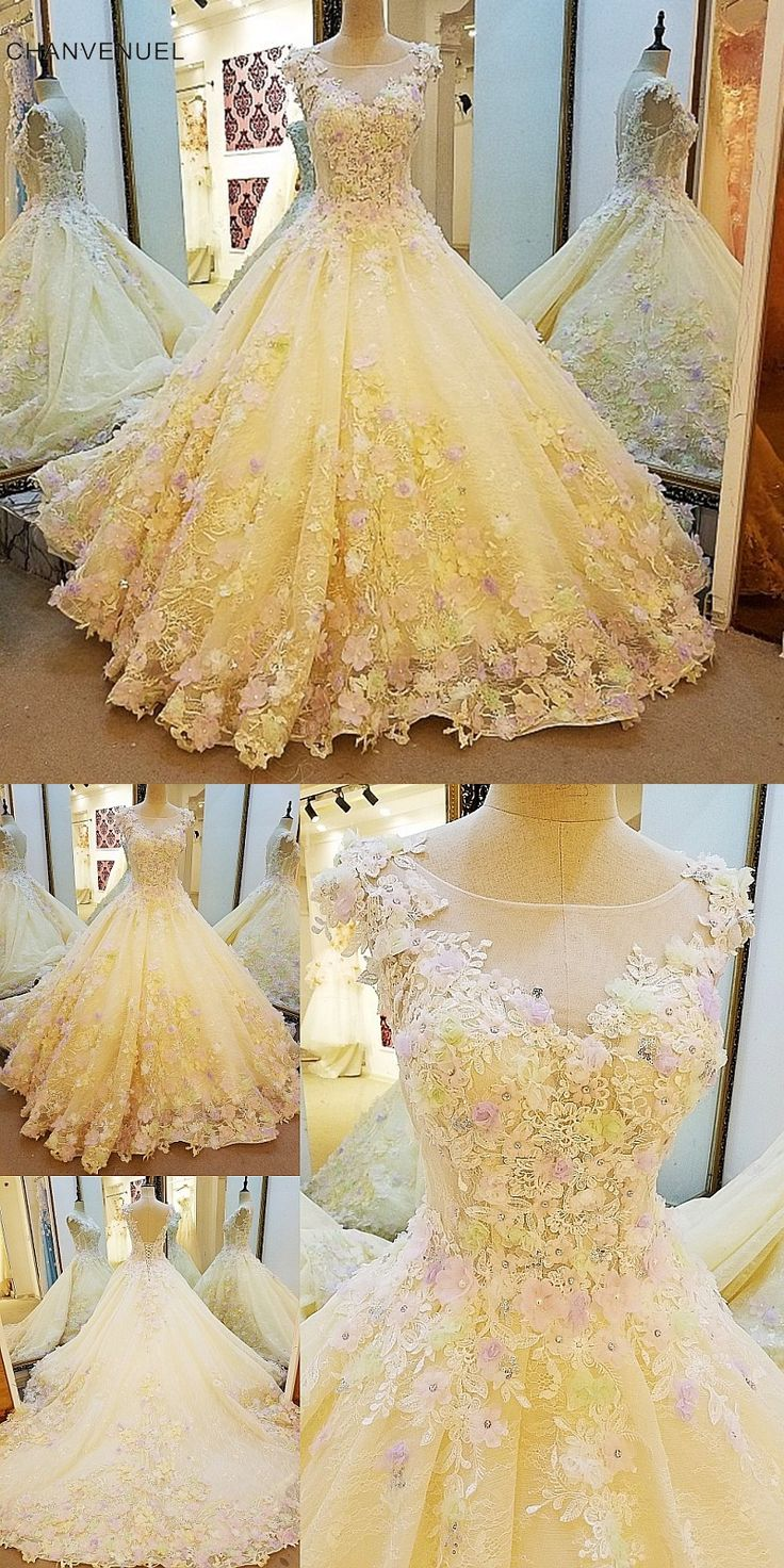 LS00109 Luxury wedding dress for bridal beading ball gown 3D flowers lace wedding gowns vestidos de noivas real photos