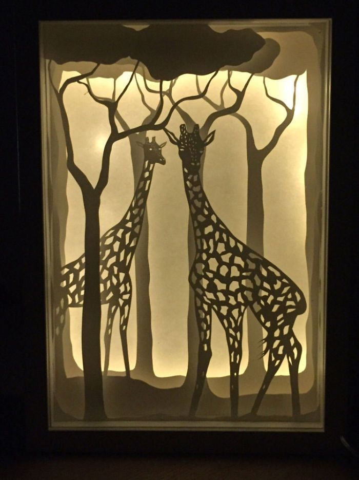 Papercut Lightboxes That I Cut From One Continuous Piece Of Paper | Bored Panda