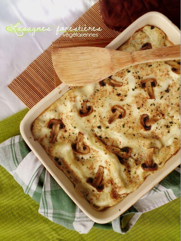 Lasagnes forestières végétariennes