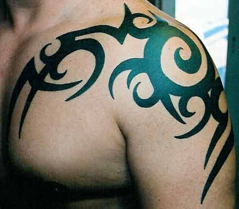 over the shoulder tattoos | tribal tattoos on chest for men girls tattoos for men