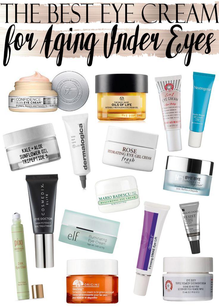 The best eye creams for aging under eyes