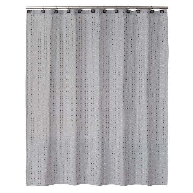 Hopscotch 72 in. Gray Shower Curtain