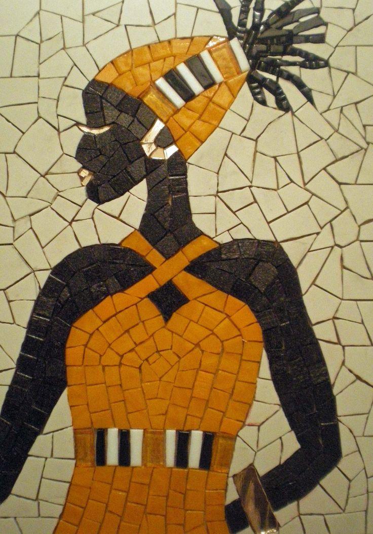 Ebony Lady ~ handmade mosaic by Dionne Ible of Qemamu Mosaics