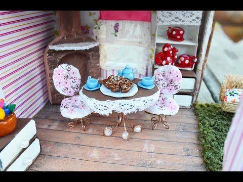 Видеоурок: кукольная миниатюра — стол и стулья - Ярмарка Мастеров - ручная работа, handmade