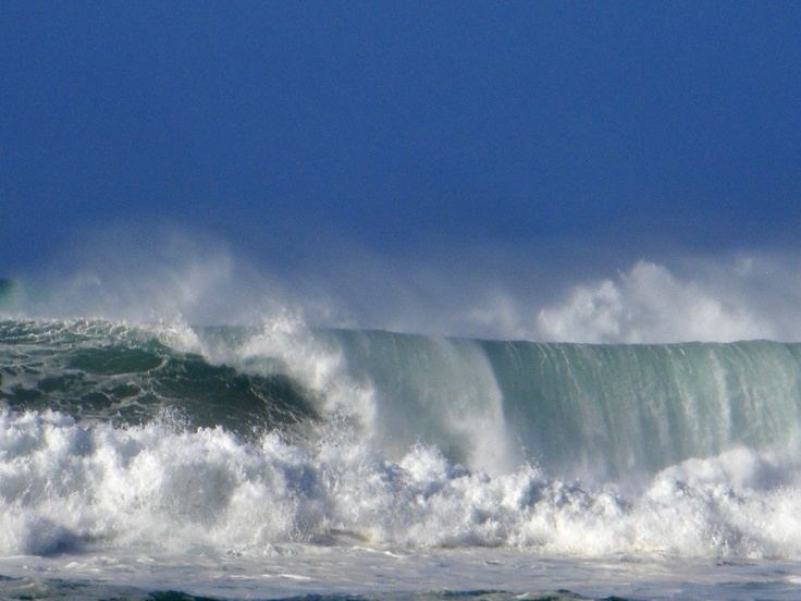 Waves at Waimea Bay 2009 during the Eddie Aikau invitational surf competition