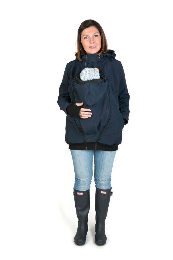 Babytragen SOFTSHELL Jacke Mutterschaft Mantel Träger von fun2BEmum