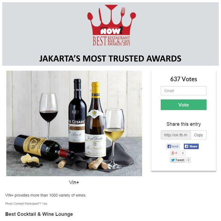 Give your vote for @vinplusid Wine & Beyond for The Best Cocktail & Wine Lounge on #BRBCA2015! #Jakarta #NOWJakarta #LifeinTheCapital #BRBCA #Best #Cocktail #Wine #Lounge #Category #Award #Event #JKTEvent #Vin #Vin+ #VinPlus #VinPlusJakarta #VinplusJKT #Beyond #Indonesia #Lunch #Brunch #Dine #Diner #Dining #Hangout