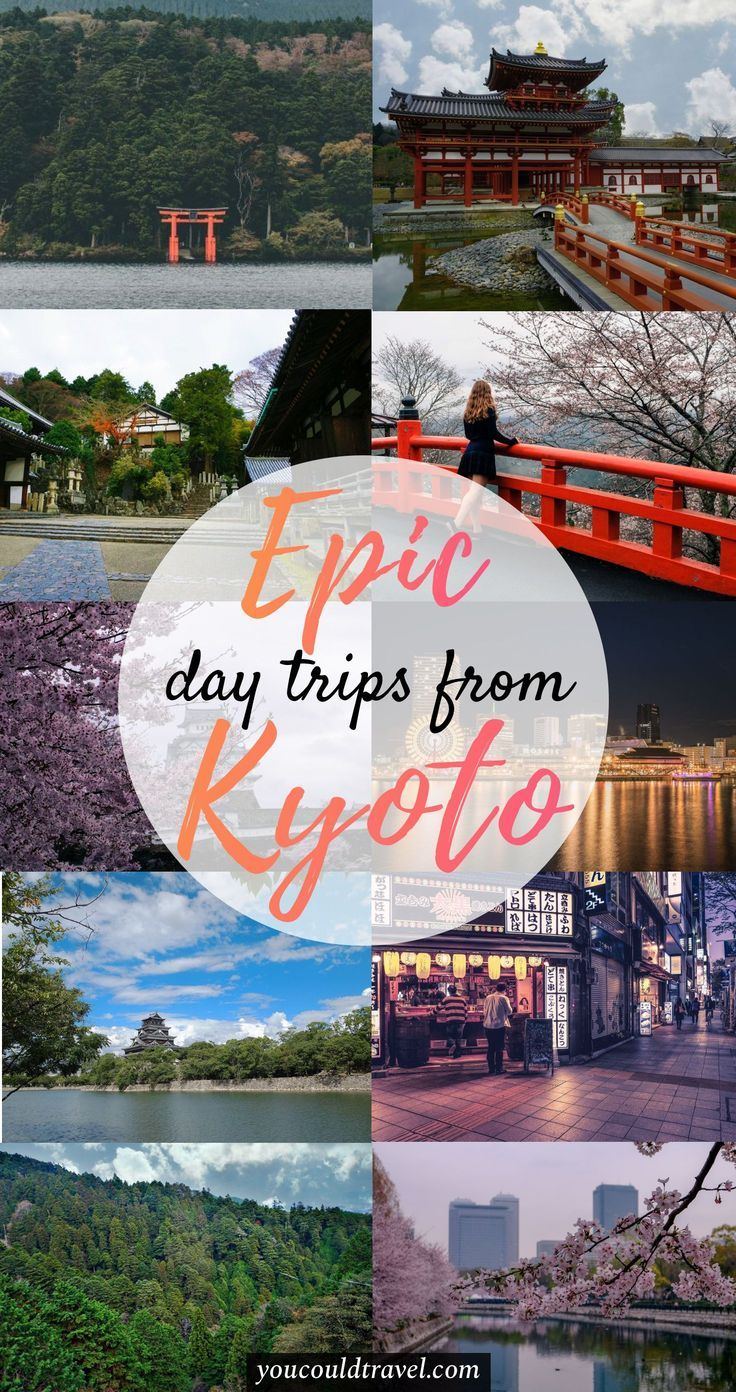 Best day trips from Kyoto - Want to enjoy the outdoor life of the Kansai area in Japan? Or maybe you want to enjoy another city which is totally different than Kyoto. Here is a list of the most epic day trips from Kyoto which are just a short shinkansen ride away. Find out how to get there and what to do in each location. #japan #daytrip #guide