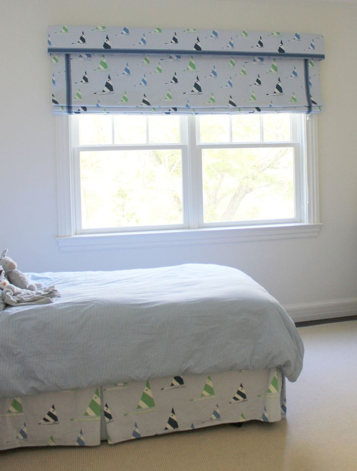 Adorable Boys Room   Roman Shade With Valance. Love The Trim. Matching Bed  Skirt
