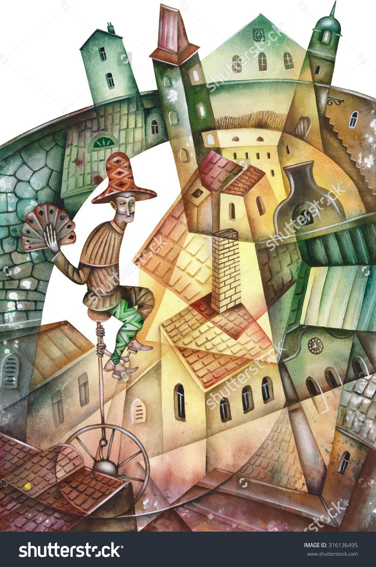 Prague Cityscape And Street Musician  by Eugene Ivanov. #eugeneivanov #cubistic #urban #landscape #cityscape #cubism #@eugene_1_ivanov
