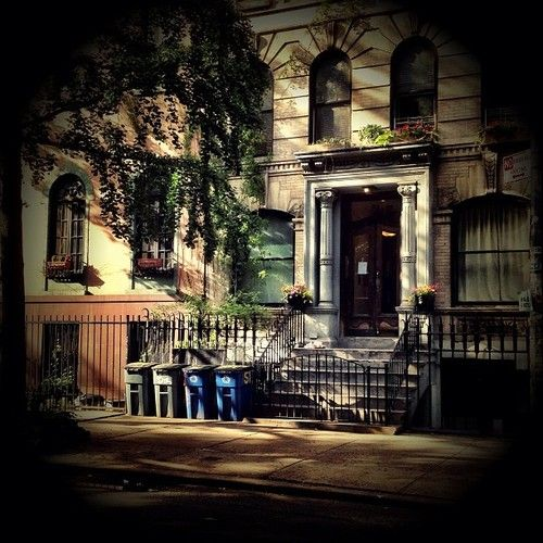 All summer in a moment. St. Marks Place brownstone. East Village: Summer light is gorgeous in NYC. Enjoy the light as it shines on the historic brownstones that line St. Mark's Place.
