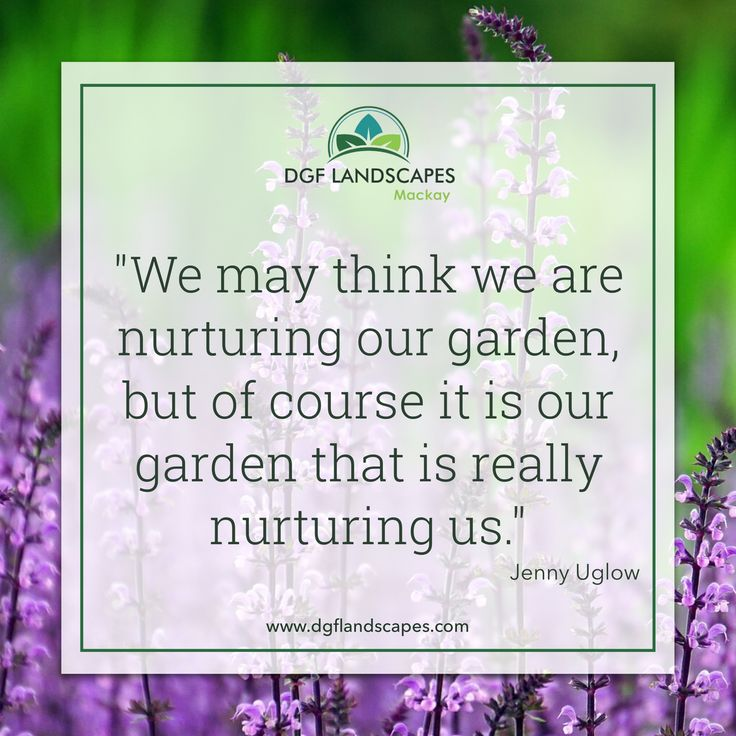 """""""We may think we are nurturing our garden, but of course it is our garden that is nurturing us."""" - Jenny Uglow   #gardenquote #gardeningquote #gardenquotes #gardeningquotes"""