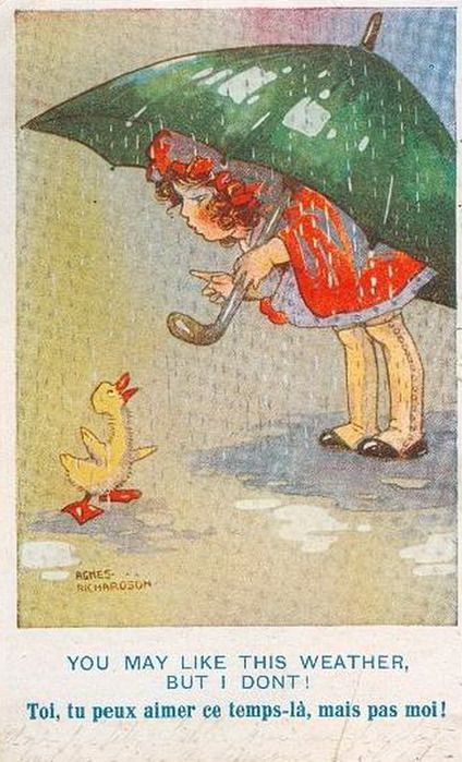 Vintage postcard (ill. by Agnes Richardson)
