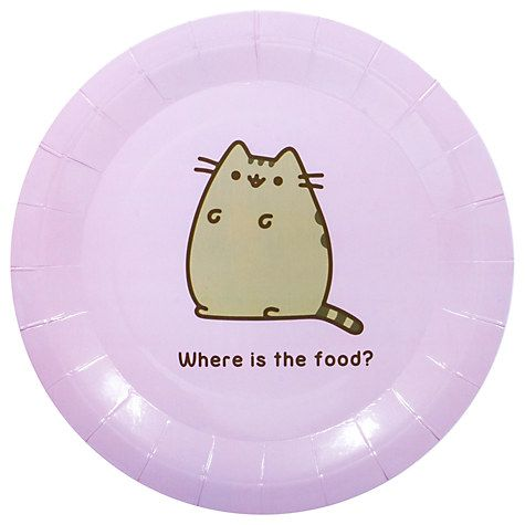 Buy Pusheen Paper Plates, Pack of 8 Online at johnlewis.com