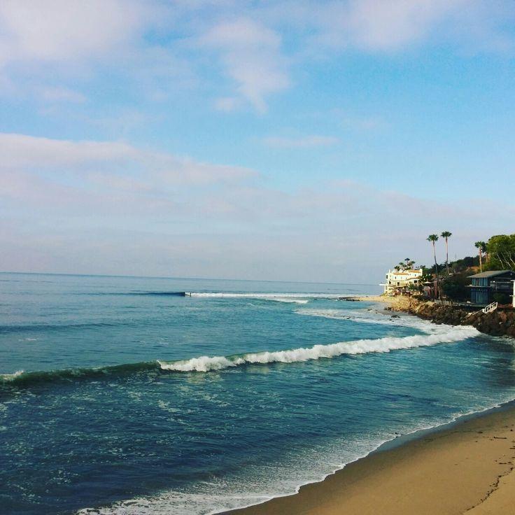 Morning view of Malibu during yoga.  Break in Love. Exhale Stress.  Breath in Stress.  Exhale Stress.
