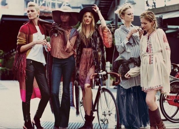 cool Karlie Kloss, Aline Weber, Cristal Renn e mais para o catálogo de Setembro 2013 da Free People
