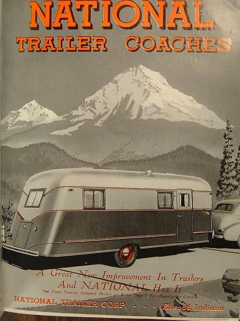 Vintage mobile home advertising is featured on Sundays at Mobile Home Living.