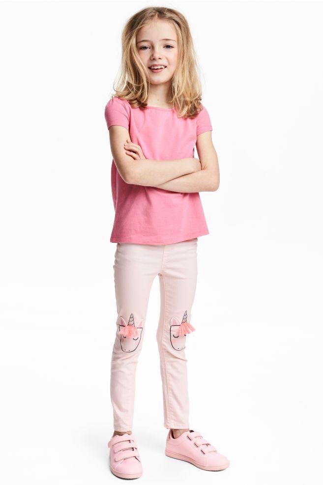 Treggings with appliqués | denim | Treggings, H&m fashion, Kids ...