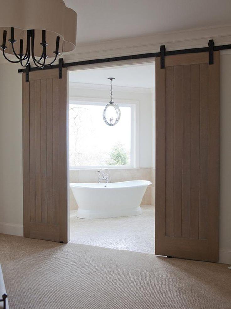 Perfecte oplossing voor de afscheiding tussen slaap en badkamer! Neemt weinig ruimte in en staat geweldig!