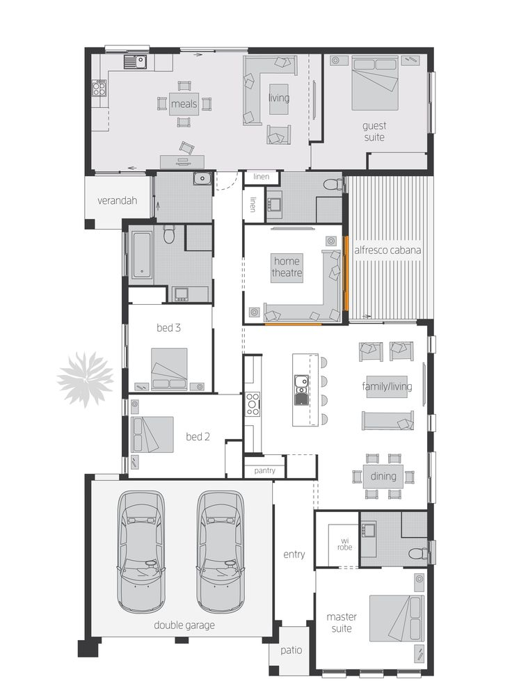 86 best images about floorplans on pinterest home design for Extended family house plans