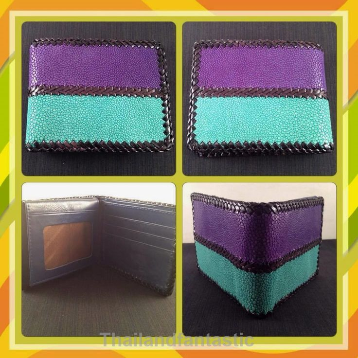 Purple Green Knit Clutch Genuine Stingray Leather Skin Clutch Wallet Bag Bifold  Price:US $75.99  http://www.ebay.com/itm/151898098696  #ebay #paypal #Thailandfantastic #Purple #Green #Knit #Clutch #Genuine #Stingray #Leather #Skin #Clutch #Wallet #Bag #Bifold